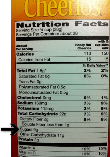 Cheerios cereal bo label
