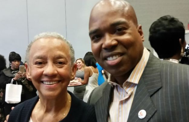 Poet Nikki Giovanni and AALBC.com Founder Troy Johnson