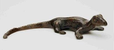 Salamander_Havedekoration_bronzedekoration_gravsten_bronzefigur