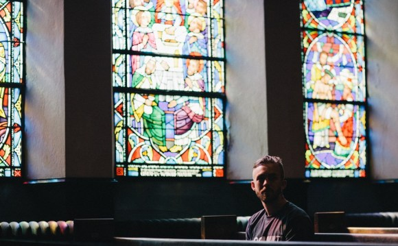 Picture of young man in church