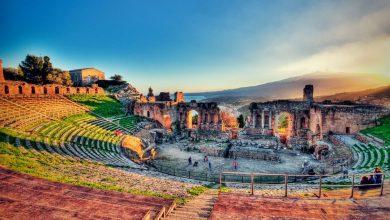 المعالم السياحية بمدينة صقلية مسرح تورمينا