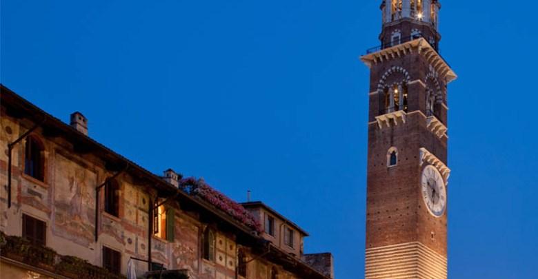 المعالم السياحية في مدينة فيرونا هو برج لامبيرتي