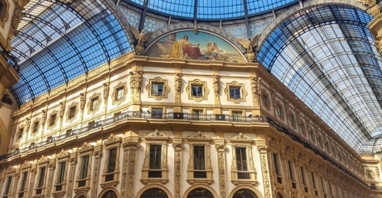 المعالم السياحية في مدينة ميلانو غاليريا فيتوريو إيمانويل الثاني
