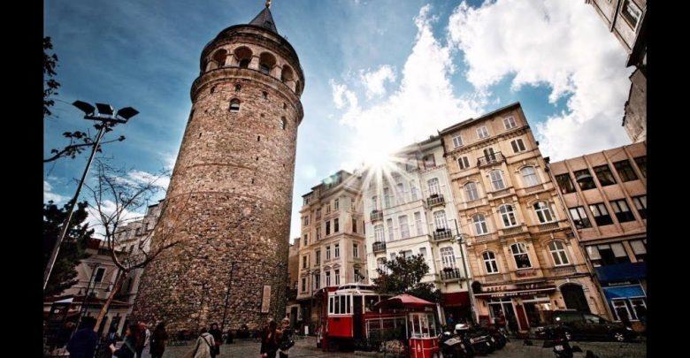 برج غلاطة في مدينة إسطنبول