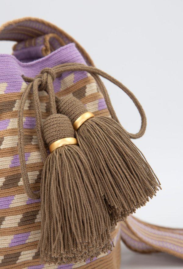 Canasto Medium Patterned Bucket Bag Cream/Hazelnut/Ash/Lila Canasto bucket bag
