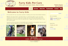 Index Page for Furry Kids Pet Care
