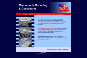 Motorsports Marketing & Consulting Site Screenshot