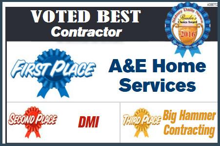 best contractor award
