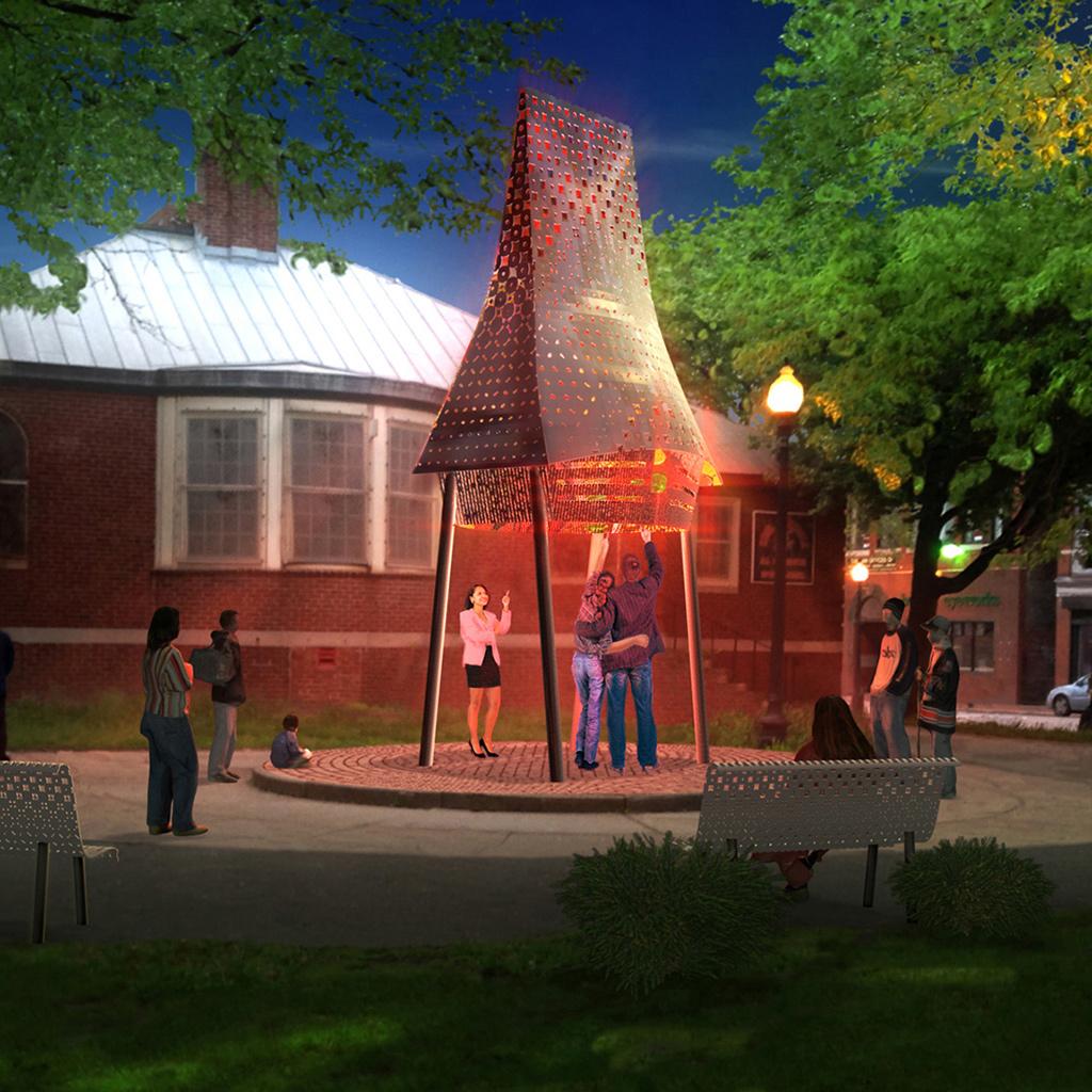 Digital Rendering for Public Art Proposal, A+J Art+Design