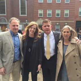 Mayor Walsh, Julie Burros, A+J Art+Design