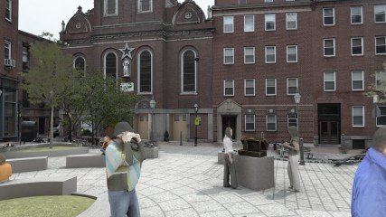 North Square Public Art Rendering, Feast Sculpture