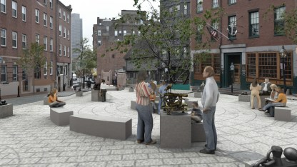 North Square Public Art Rendering, Marine Instrument Sculpture