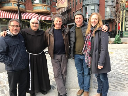 Jim, Father Claude, Tommy, J+A