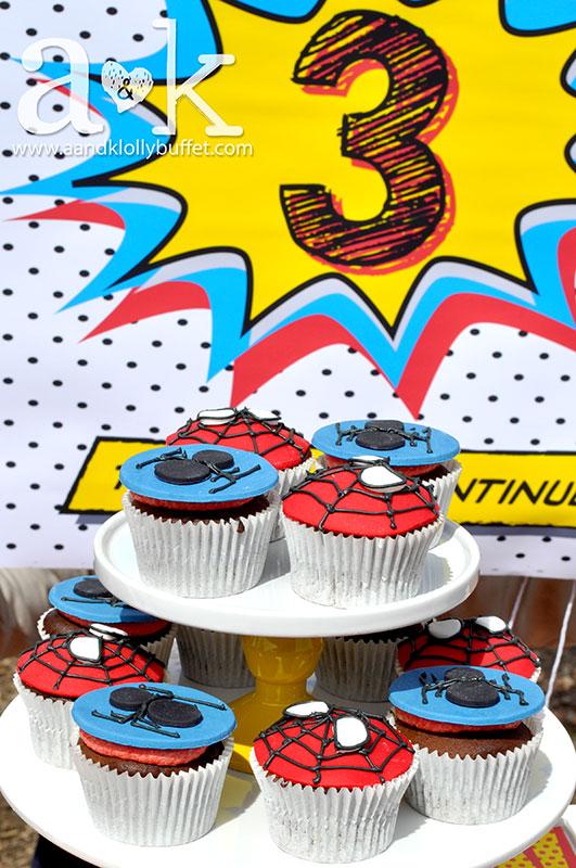 Lyrells Spiderman 3rd Birthday AampK Lolly Buffet