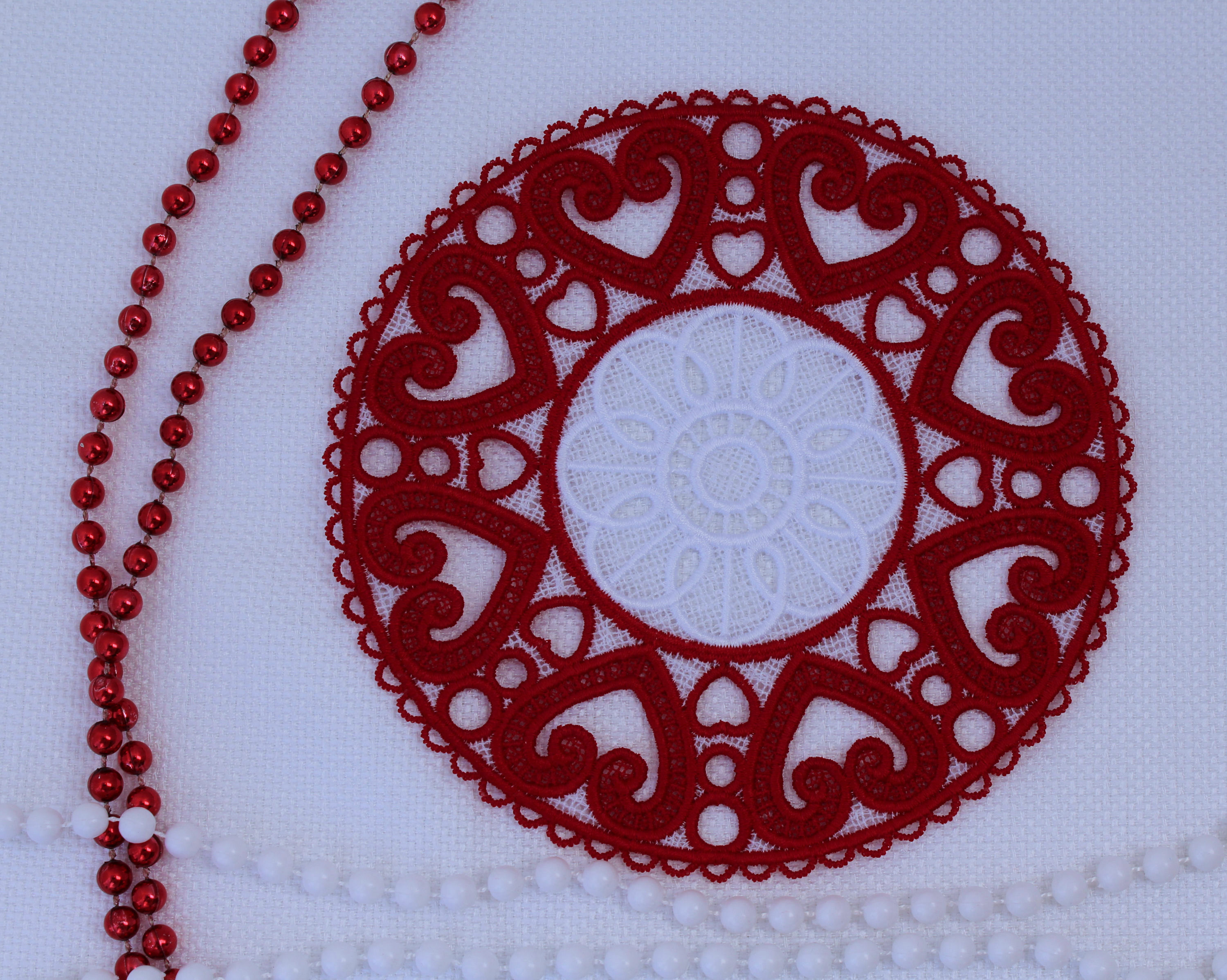 Lace on valentine day