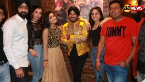 "The enthusiastic team of ""Shaadi Teri Bajayenge Hum Band"" witnessed in Delhi for music launch!"