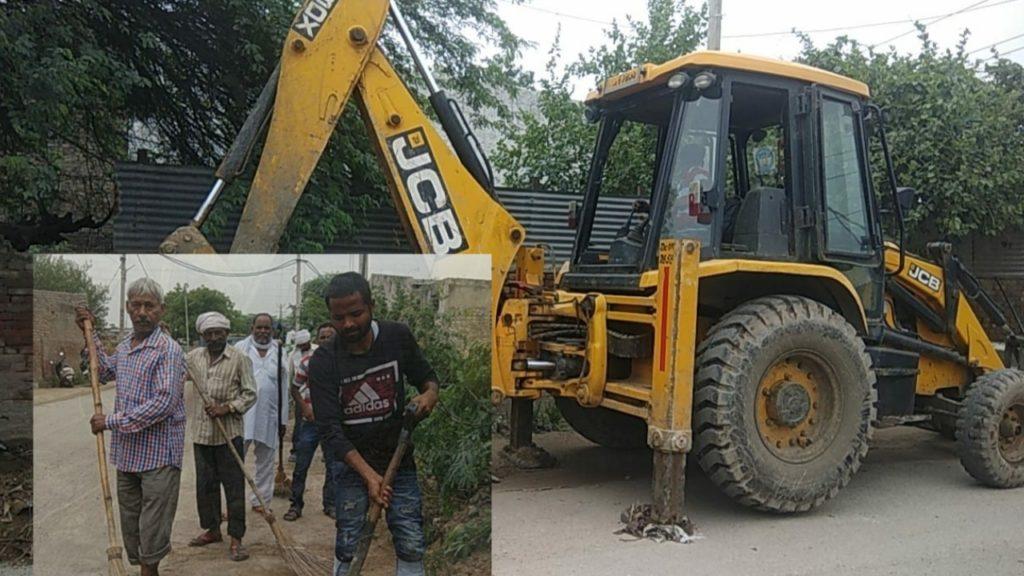 बख्तावरपुर वार्ड में सफाई अभियान की शुरुआत। जिन्दपुर सड़क की हुई सफाई