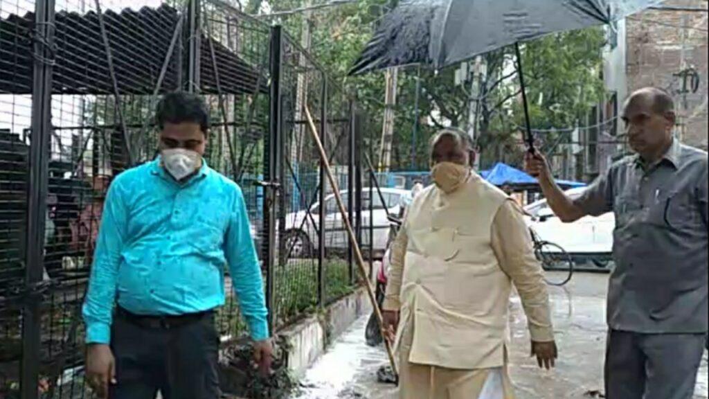 उत्तरी दिल्ली नगर निगम महापौर ने किया जहांगीर पूरी का दौरा ।