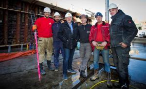 v.l.n.r. Remco, Maarten van Minnen, Ronald Nordemann, Henk van Wanrooy, Sietse, Wesley.