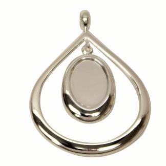 Drop Oval Pendant