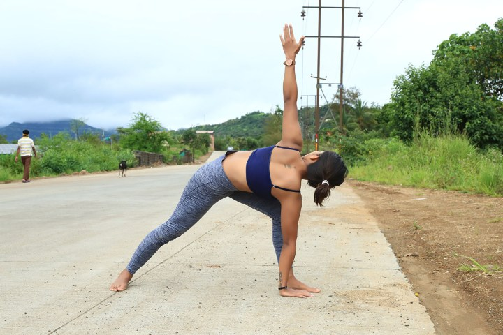 Reversed Triangle Pose