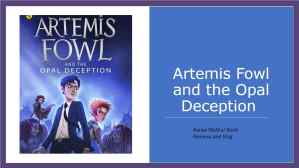 Artemis Fowl Blog Cover Page