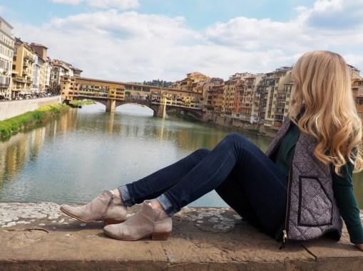 Checking out Ponte Vecchio