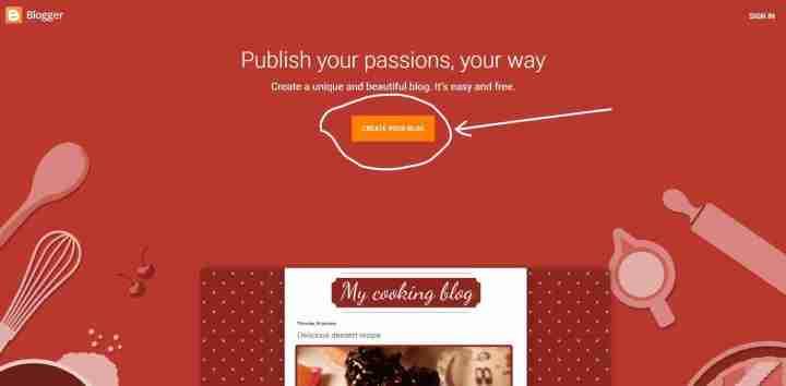 BlogSpot par free me blog banaye