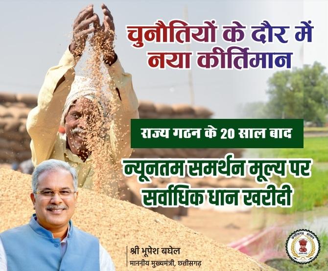 CM Bhupesh Dhan Kharidi