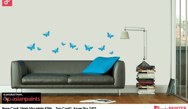 Butterfly wall stencil designs