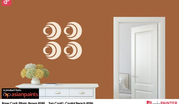 Circles wall stencil designs