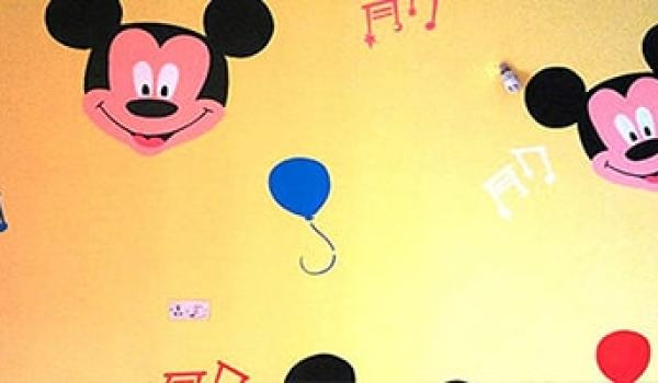 Mickey wall stencil designs