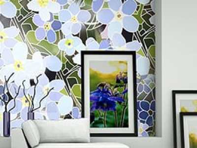 flowershow wall stencil design