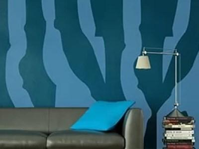 wall stencil designs waterfall