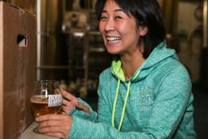 Qiuxia Welch, a native of Chengdu, China, and co-owner of Boom Island Brewing. (Brewery photo)
