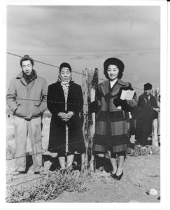 A photo of Japanese Americans being interned during World War II. (Photos courtesy of Heart Mountain Wyoming Foundation Okumoto Collection)