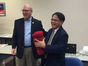 U.S. Rep. Kevin Cramer (R-N.D.) and Philippine Consul General Generoso Calonge in Bismark on Saturday, Aug. 27, 2016.