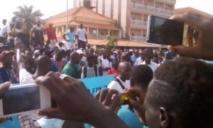 Youth protest in Guinea-Bissau