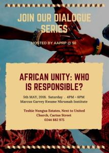 African Unity: Who is Responsible?