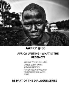 Africa Uniting - What is the Urgency?