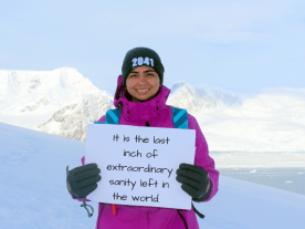 I want to save Antarctica because... -Charulata, 28, India