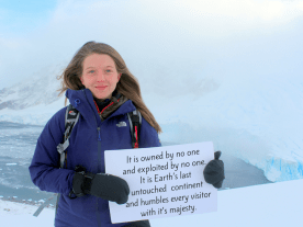 I want to save Antarctica because... Marjolaine Briscoe, 17, UK