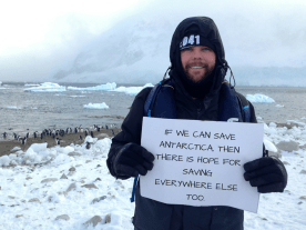 I want to save Antarctica because... -Rhys Woods, 25, Australia