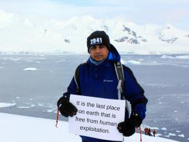 I want to save Antarctica because... -Tahir, 44, Hague Netherlands