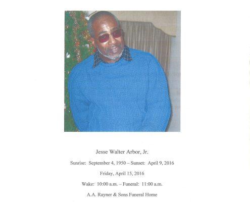 Jesse Walter Arbor Jr