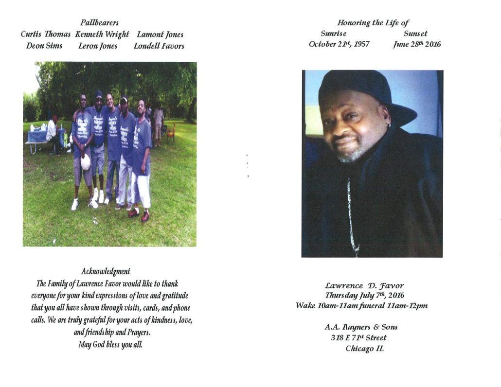 Lawrence D Favor Obituary