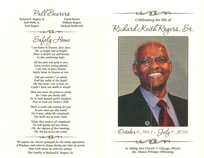 Richard Keith Rogers Sr Obituary