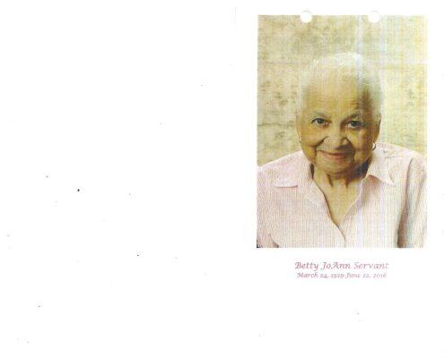 Betty JoAnn Servant Obituary 2092_001
