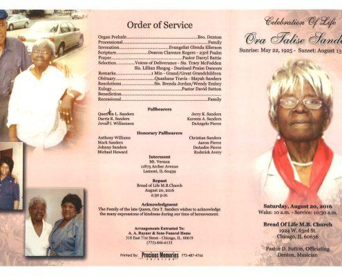 Ora Jalise Sanders obituary 2199_001