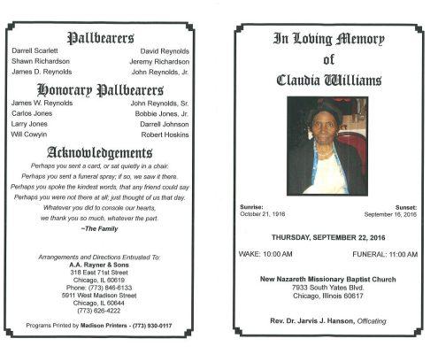Claudia Williams Obituary 2319_001
